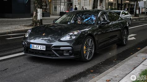 2017 porsche panamera turbo 2017 porsche panamera turbo looks dynamic on the street