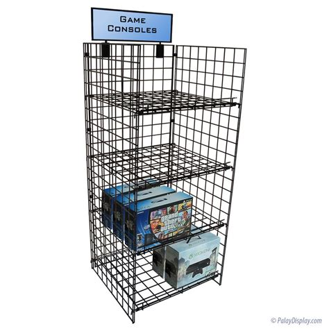 grid shelf wire rack display square shelves wire rack
