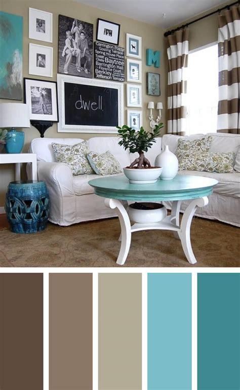 turquoise color scheme living room