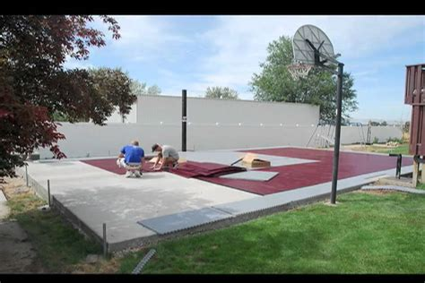 how to build a basketball court in your backyard snapsports 174 installs a outdoor basketball court home