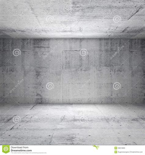 Modern Industrial Office abstract white interior of empty concrete room stock