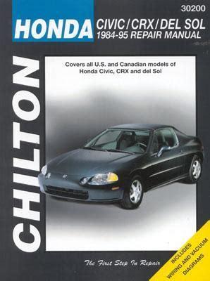 repair voice data communications 1984 honda cr x user handbook chilton s honda civic crx and del sol 1984 95 repair manual by chilton automotive books