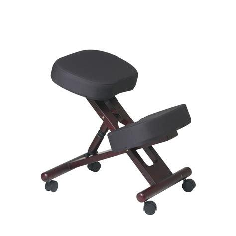 ergonomic kneeling posture office chair detail