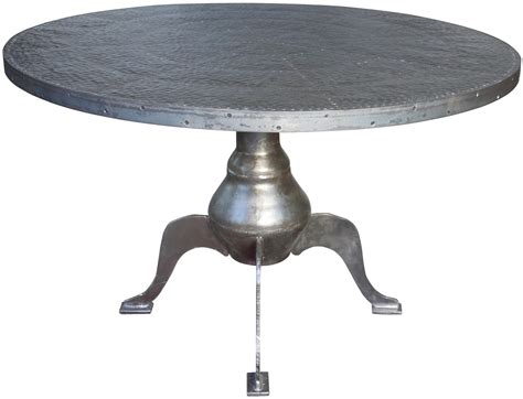 dining table sheet metal top dining table