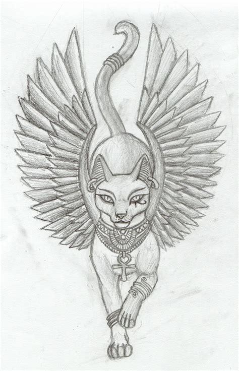 tattoo cat drawing egyptian cat tatoo photography art pinterest