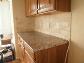 Travertine Kitchen Backsplash by Integrity Installations A Division Of Front