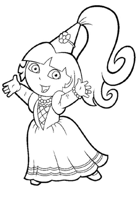 princess dora the explorer coloring pages only coloring
