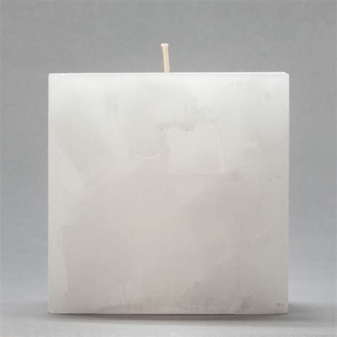 Square Candles 4x4x4 White Chunky Square Pillar Candle