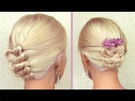 elegant knot hairstyles knot braid tutorial for medium long hair prom wedding updo