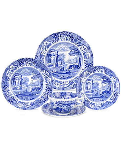 blue and white china l spode dinnerware blue italian collection dinnerware