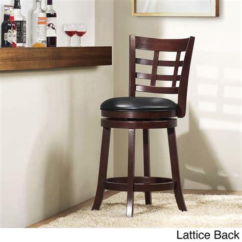 bar stools 24 inches high swivel verona cherry swivel 24 inch high back counter