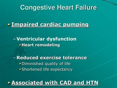congestive failure ppt congestive failure study powerpoint presentation id 3281529