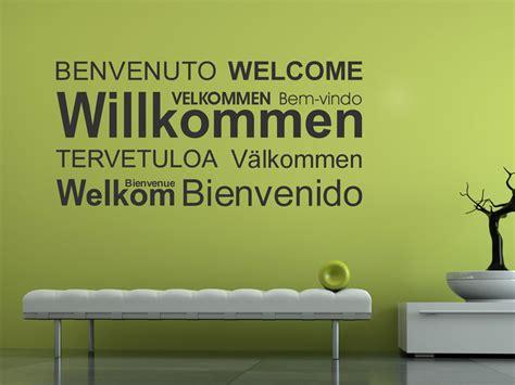 Sitzbank Flur Pastell by Modernes Willkommen Welcome Wandtattoo Wandtattoo Net