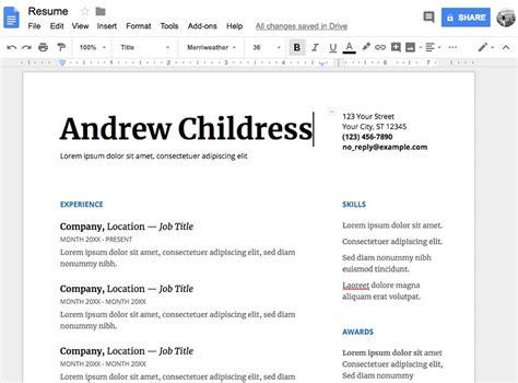 15 Free Google Docs Microsoft Word Resume Templates 2019 Docs Resumes Templates