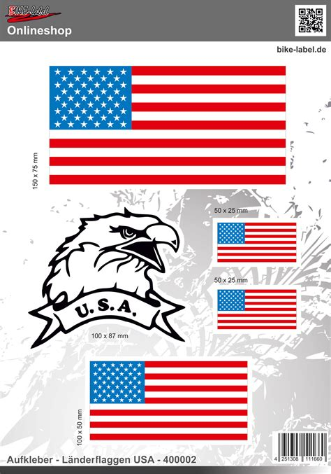 Aufkleber Länderflaggen by L 228 Nderflaggen Usa Aufkleber Auto Caravan Motorrad 400002