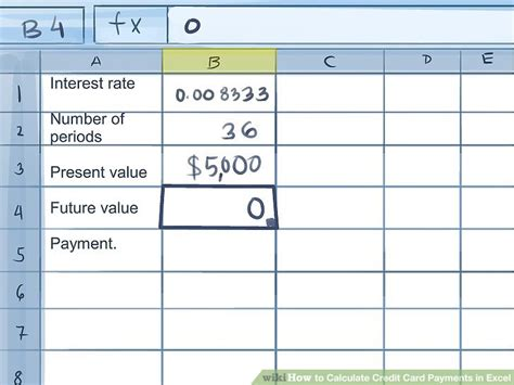 Credit Card Minimum Payment Formula Excel how to calculate credit card payment with 0 interest