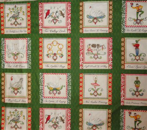 12 Days Of Quilt Pattern by 12 Days Of Fabric Panel Cotton Quilting