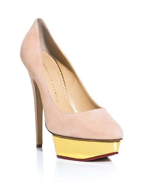 olympia suede pumps in pink lyst