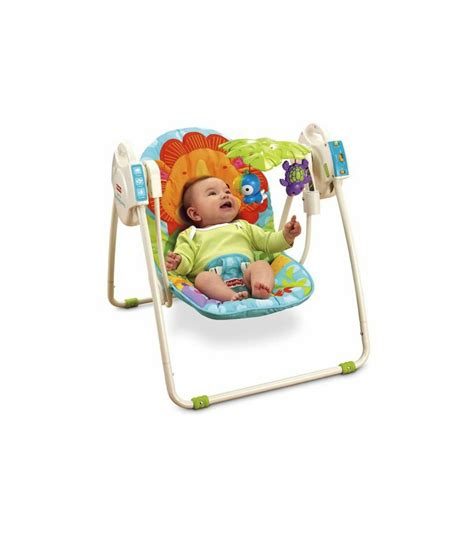 fisher price outdoor swing fisher price precious planet blue sky take along swing