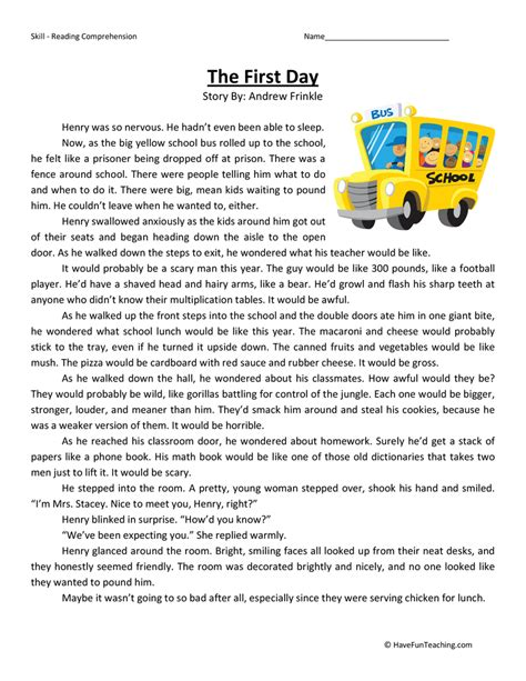 Fourth Grade Reading Worksheets by Fourth Grade Test Practice Teaching