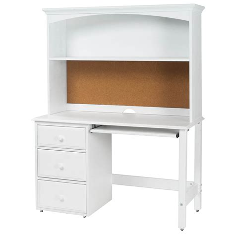 white kid desk student desk with hutch by maxtrix shown in white