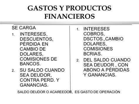 gastos de cuenta manual de cuentas 1