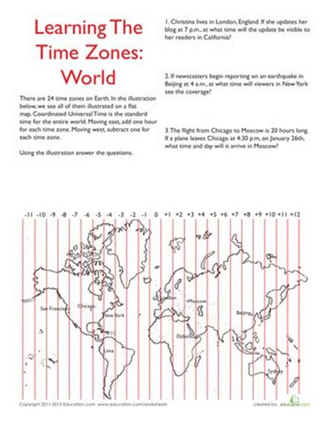 printable time zone sheet 25 best ideas about world time zones on pinterest child