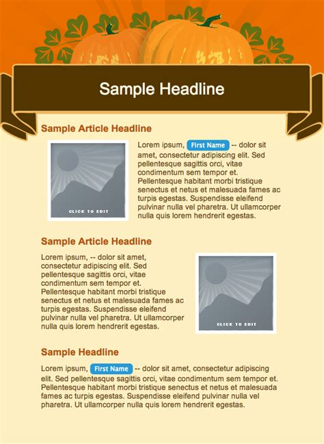 Fall Newsletter Templates by Fall Newsletter Templates Free