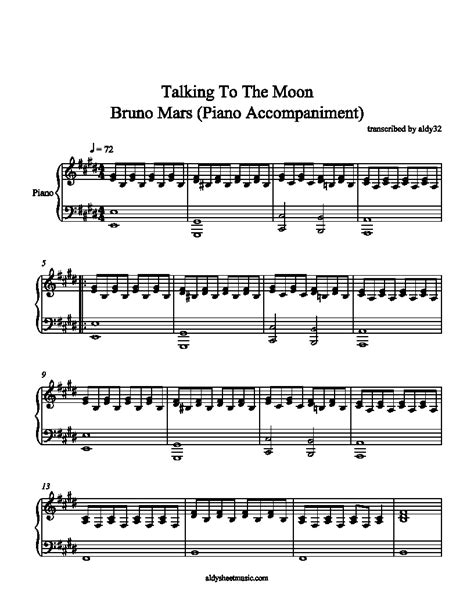 tutorial piano talking to the moon aldy sheet music talking to the moon bruno mars piano