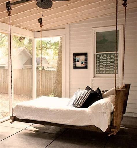 hanging porch bed hanging bed screened porch pinterest