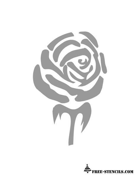 printable stencils rose free printable rose stencils