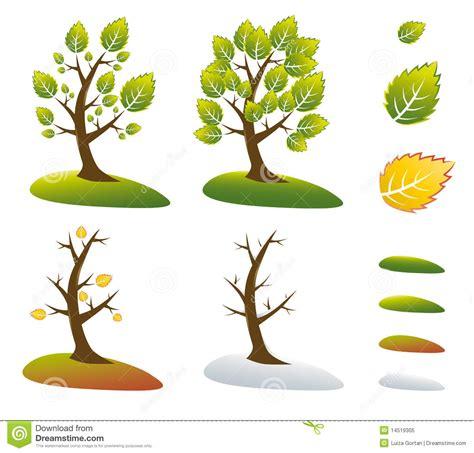illustration of season trees season tree symbols vector illustration royalty free stock photo image 14519305