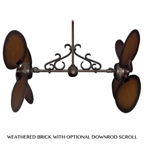 double fan ceiling fans twin star ii dual motor ceiling fan by gulf coast fans