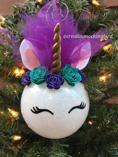 unicorn ornaments ideas  pinterest