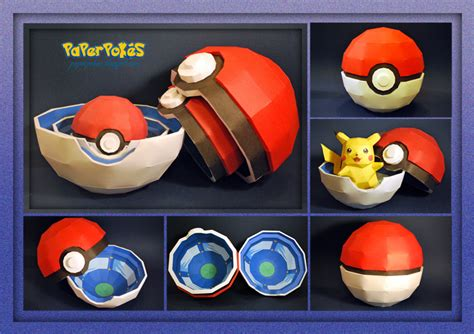 How To Make A Paper Pokeball - poke box papercraft by paperbuff on deviantart