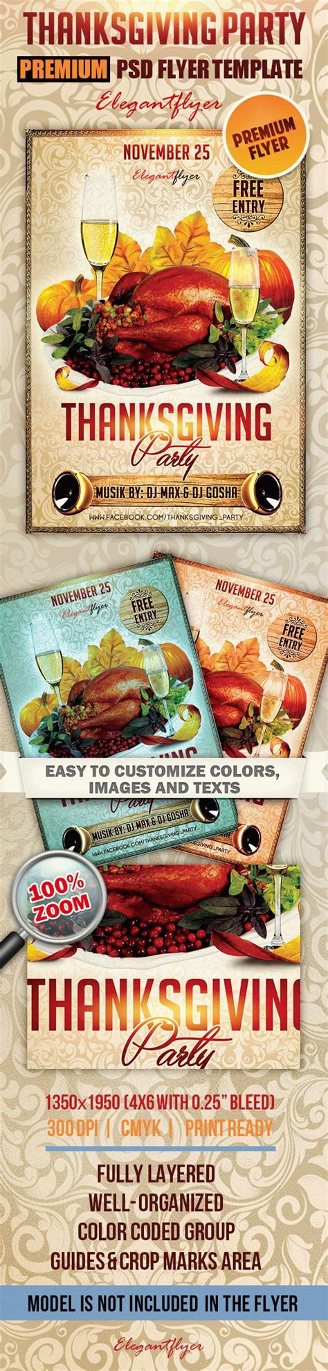 thanksgiving card template psd thanksgiving premium club flyer psd template by