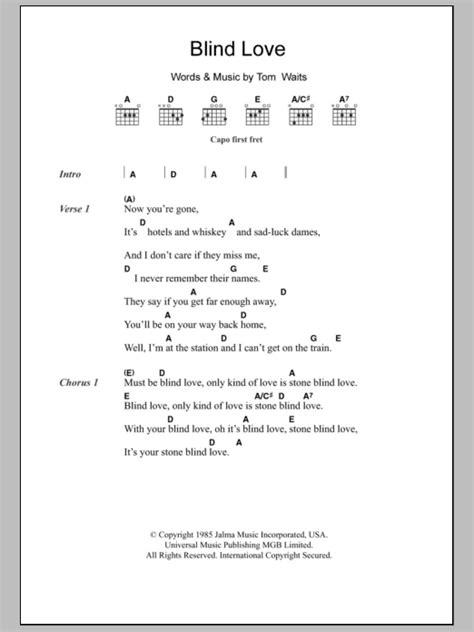 Tom Waits Guitar Chords