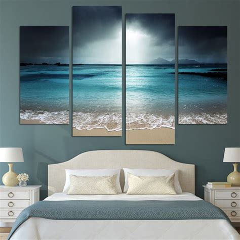 painting for home decoration 4 panel modern wall art home decoration painting canvas