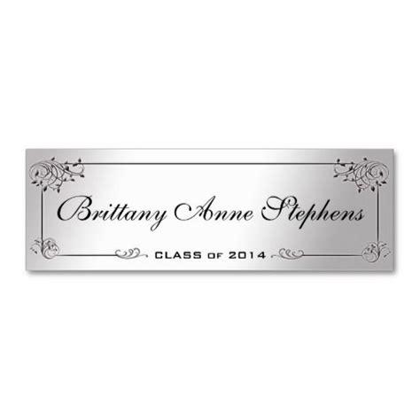 senior name card template silver graduation name card insert business card