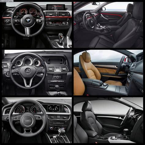 Bmw Vs Mercedes Interior by Bmw 4 Series Coupe Vs Audi A5 Vs Mercedes E Class Coupe