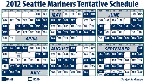printable 2014 seattle mariners schedule calendar