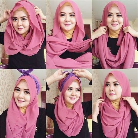 tutorial hijab untuk wajah bulat hidung pesek 13 model hijab untuk wajah bulat agar terlihat tirus