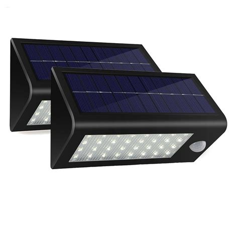 solar powered motion detector lights 2pack lot 32 led 550 lumens ultra bright outdoor solar