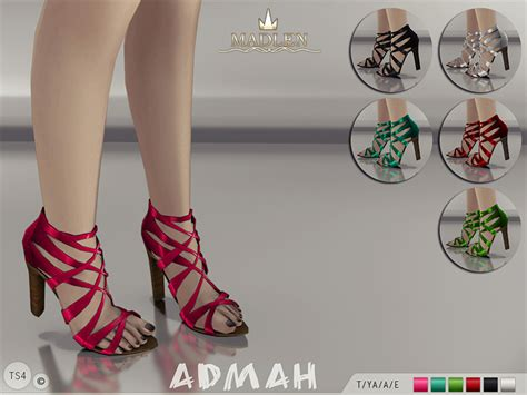 sims 4 shoes the sims resource mj95 s madlen admah shoes