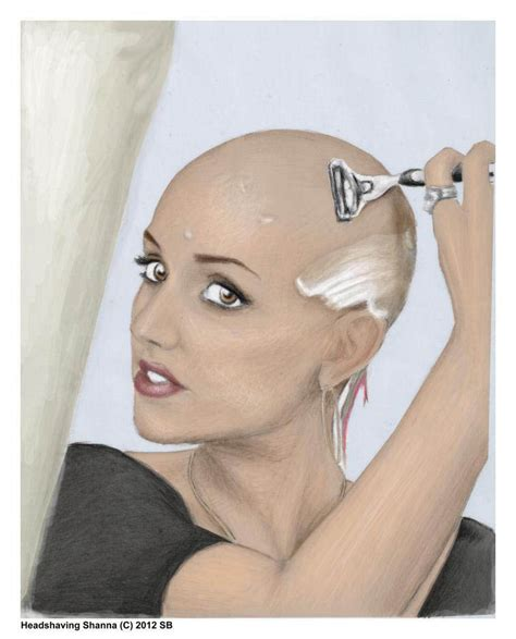 ladies forced head shave head shaving artwork by stefan von deutschland haircuttingfun