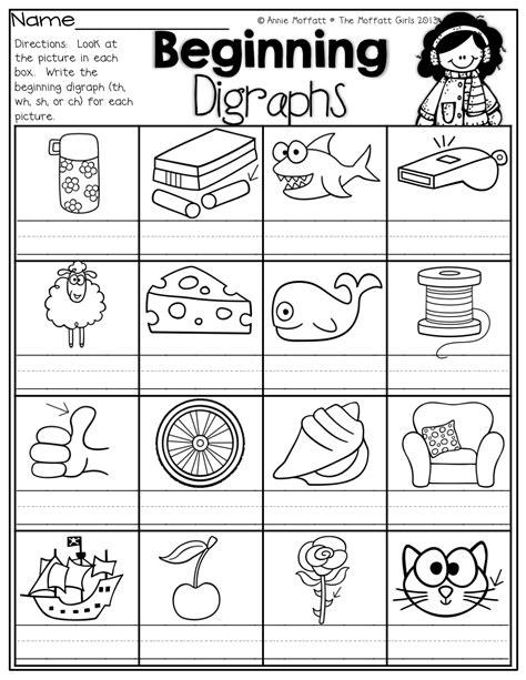 beginning digraphs write the beginning digraphs for each