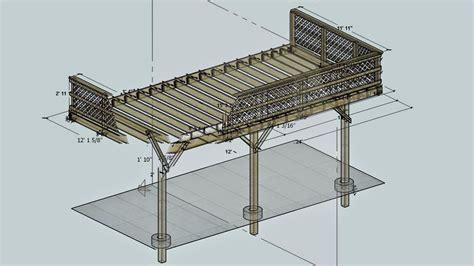deck plans com 12x20 deck design