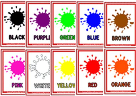 toddler color learning printables   learning colours