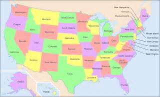 united states of america map with states and capitals states second grade is awesome