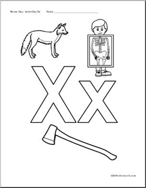letter x coloring pages preschool beginning sounds poster letter x abcteach